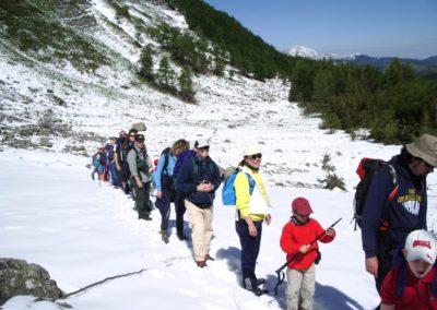 escursione con neve