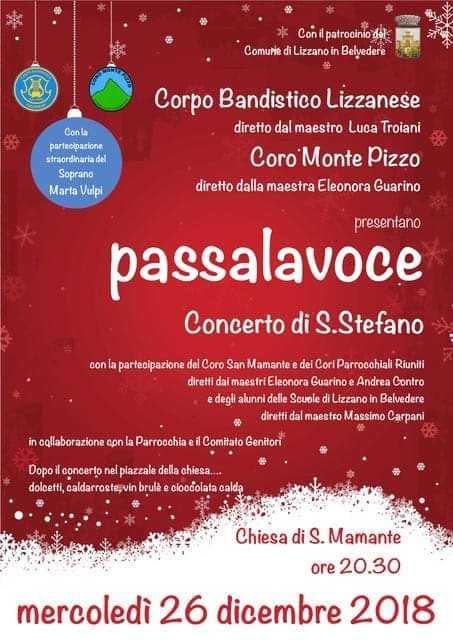 passalavoce – Concerto di Santo Stefano