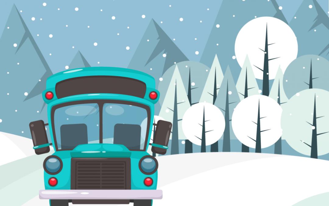 Il treno ed il bus della neve