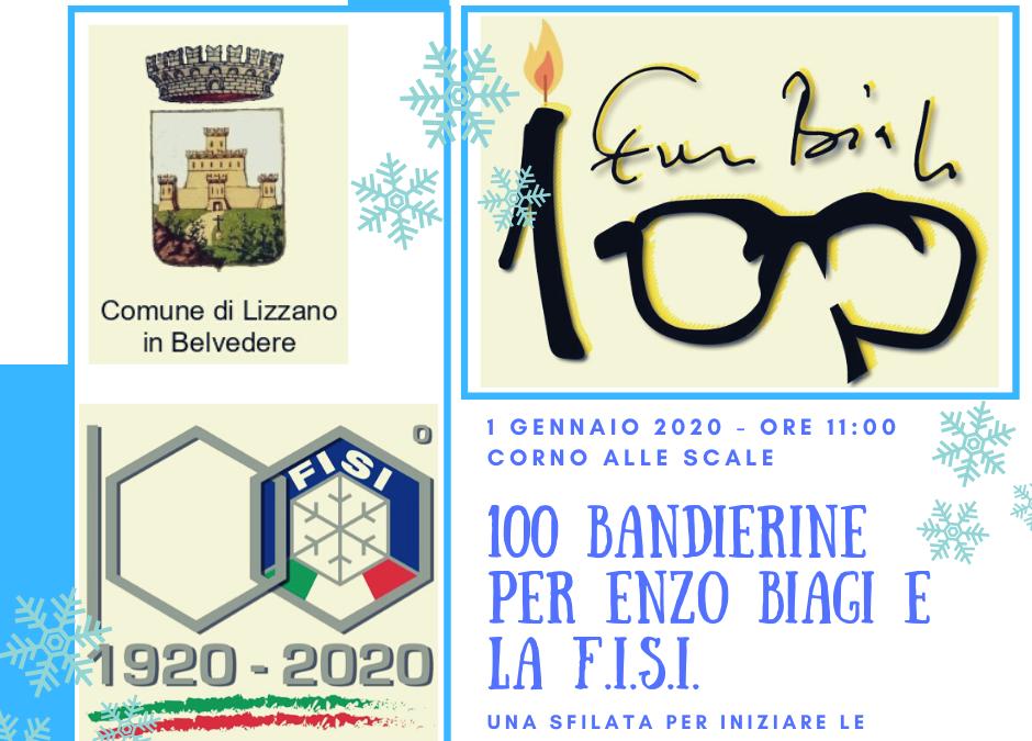 100 Bandierine per Enzo Biagi e la F.I.S.I.
