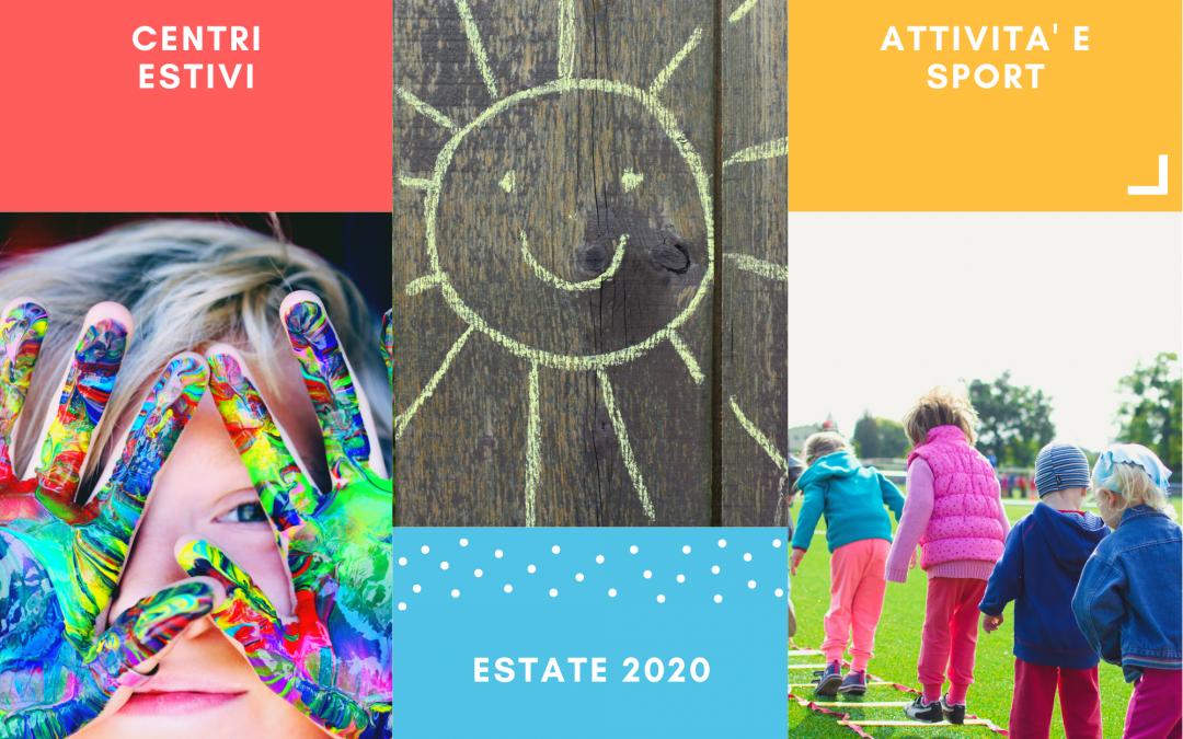 Attività per bambini estate 2020
